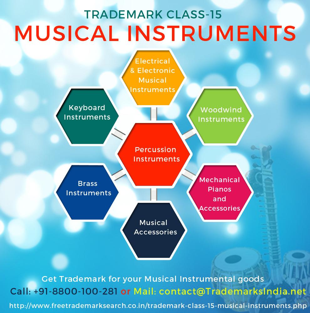 Trademark Class 15 - Musical Instruments
