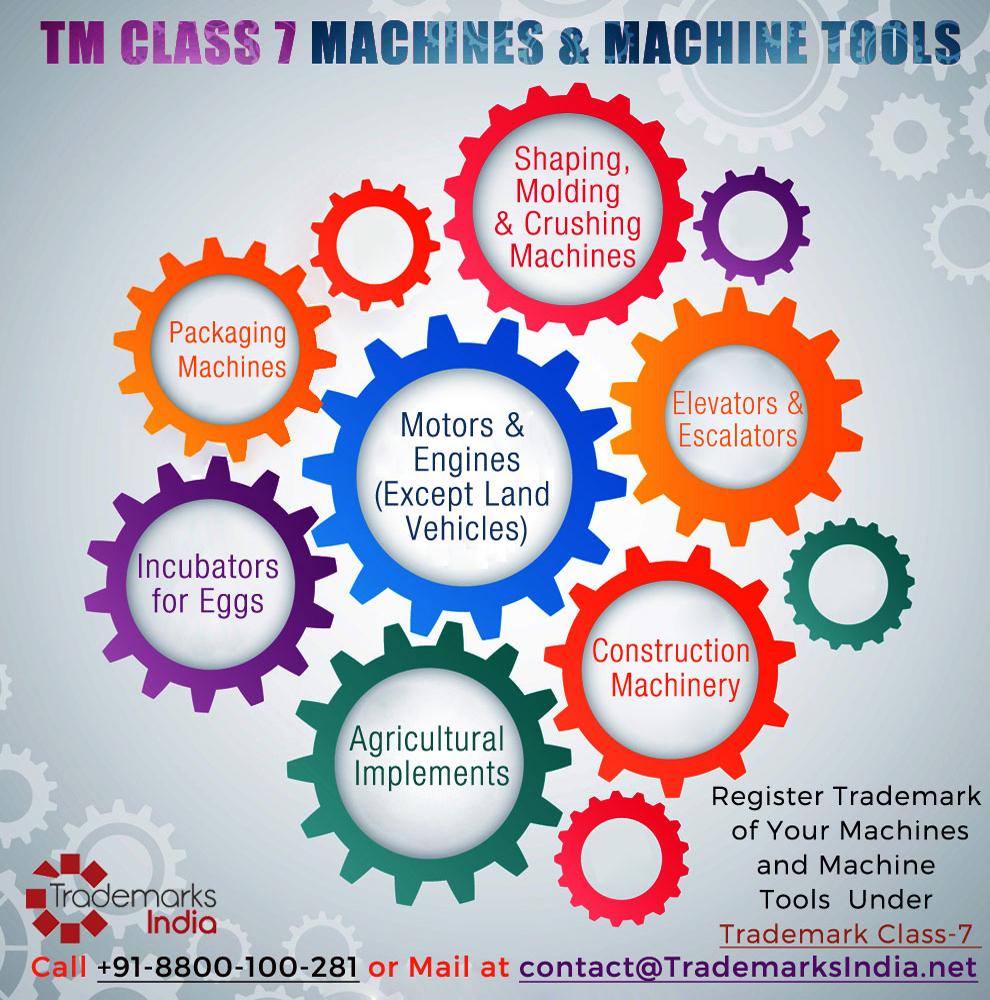 Trademark Class 7 - Machine and Machine Tools
